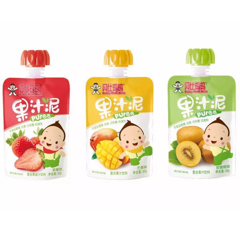 中国台湾旺旺贝比玛玛果汁泥90g 猕猴桃味