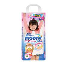 日本尤妮佳Moony拉拉裤XL38女(12-17KG) 1包
