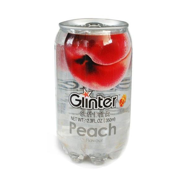 马来西亚运得牌水蜜桃味含气饮料350ml