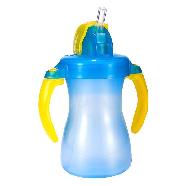 日本贝亲儿童mini学饮吸管杯水杯150ml 蓝色