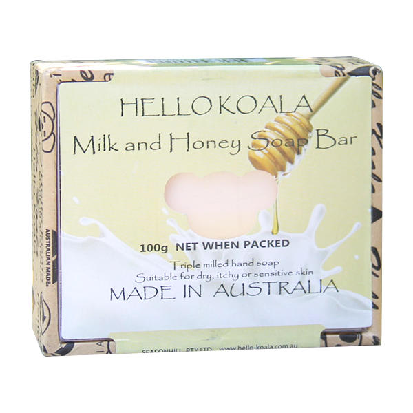 澳洲HELLO  KOALA牛奶蜂蜜手工皂100g