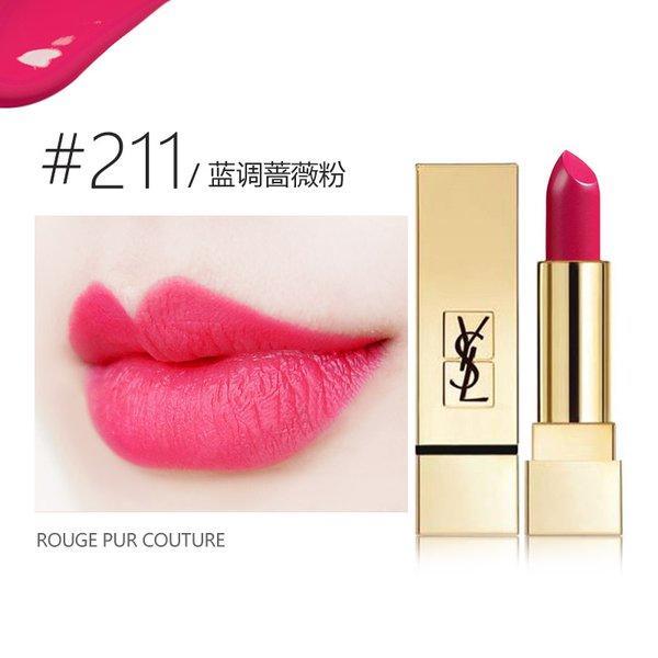 法国YSL圣罗兰 方管口红3.8g迷魅纯漾滋润保湿唇膏 #211枚红色