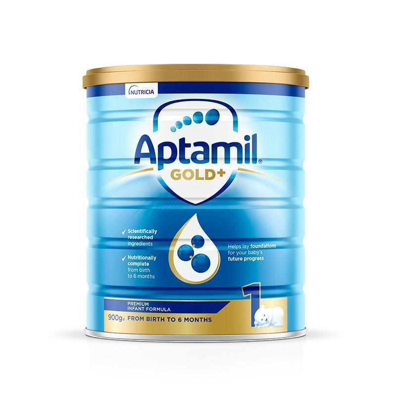 【2罐装】澳洲Aptamil爱他美金装1段900g*2罐 0-6个月婴幼儿奶粉(新老包装随机发货)