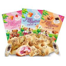 中国  珍妮维尼小熊  注心饼干 60g 草莓味