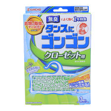 日本KINCHO衣柜防虫挂无臭型3个装(新包装)