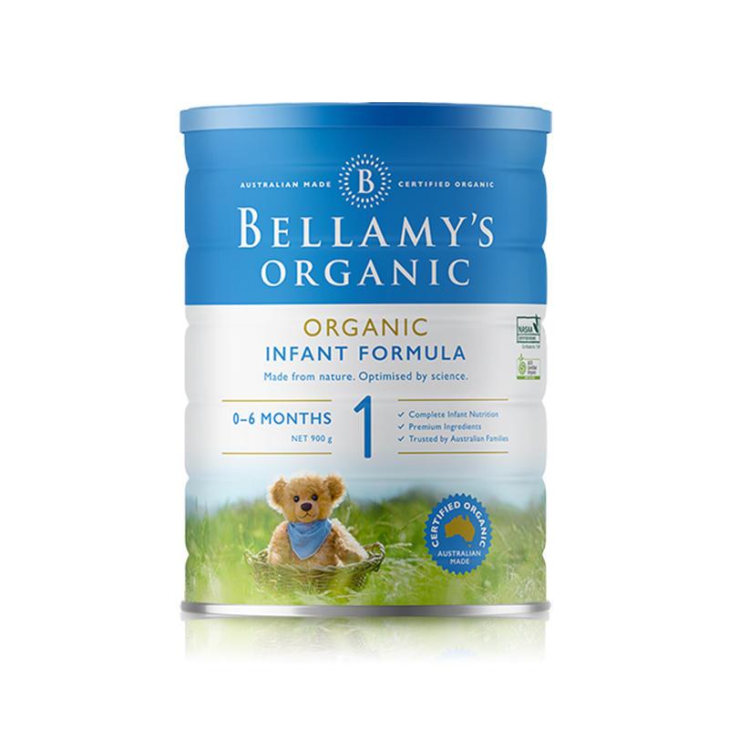 【澳洲直邮】澳大利亚贝拉米1段 0-6个月婴幼儿有机奶粉900g(3罐/6罐起订) 3罐