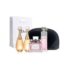 法国迪奥女士香水相熟Q版四件套各5ml(化妆包款)