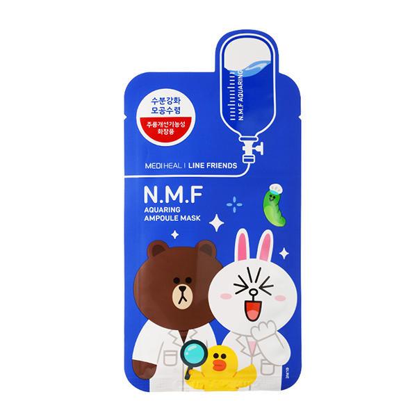韩国可莱丝NMF水润水库保湿面膜卡通限量line版动物面膜蓝色10片