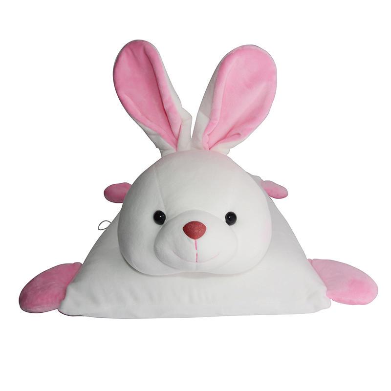 泰国ecolifelatex 天然乳胶  儿童 卡通 乳胶枕 白色-活泼兔