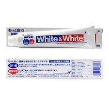 日本狮王美白牙膏清爽薄荷味150g*2支