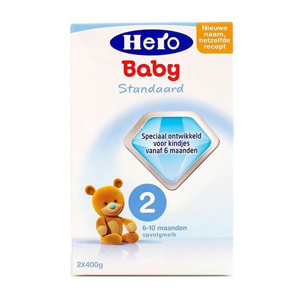 【2罐装】荷兰原装Hero Baby2段  6-10个月宝宝奶粉800g*2盒