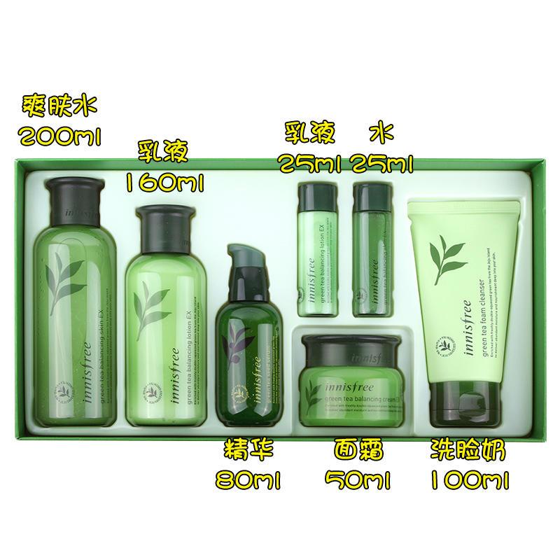 韩国悦诗风吟绿茶水乳套盒7件套