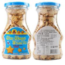 中国台湾 河马莉 星星饼120g 牛奶味