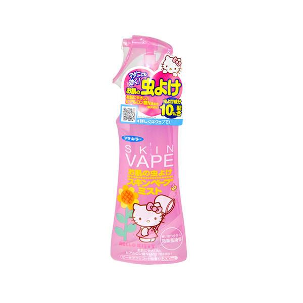 日本VAPE驱蚊喷雾防蚊水驱蚊液HelloKitt限定版200ml红瓶蜜桃红杏