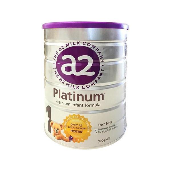 【2罐装】新版澳洲原装a2白金婴儿奶粉1段 0-6个月宝宝奶粉900g*2罐