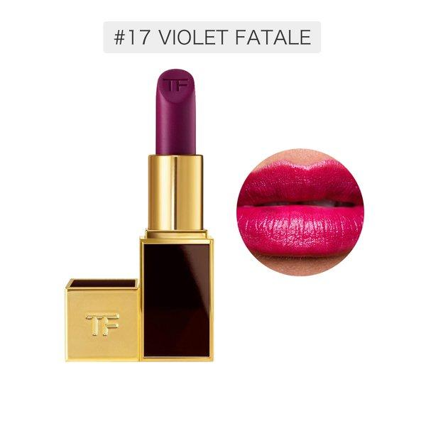 美国汤姆福特TF口红3g 黑金管#17号 VIOLETFATALE 紫红色