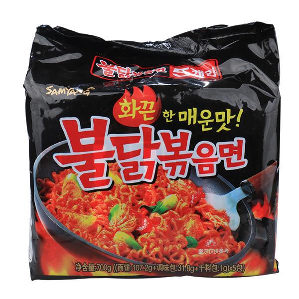 韩国三养超辣鸡肉味拌面700g  140g*5