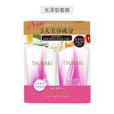 日本资生堂红椿洗发水护发素套装315ml粉色(2瓶)