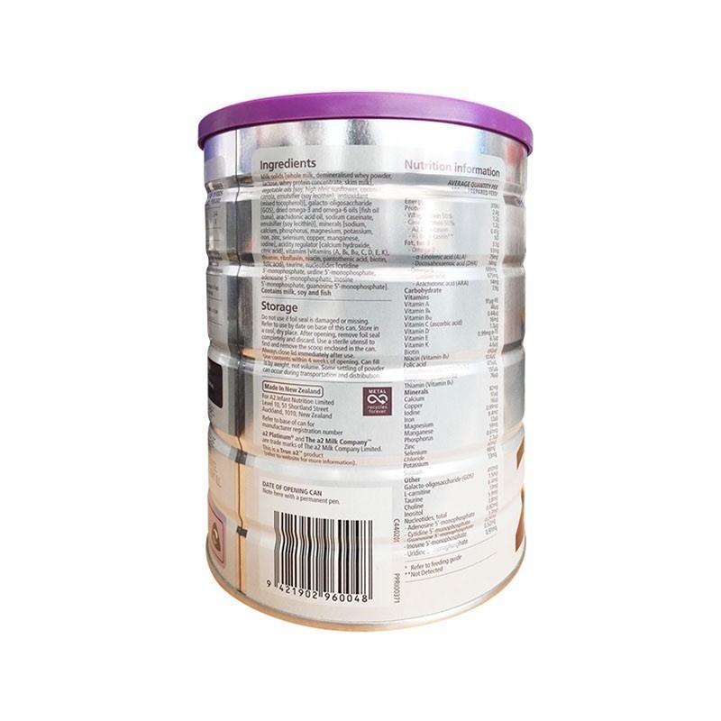 澳洲原装a2白金婴儿奶粉2段900g*2罐