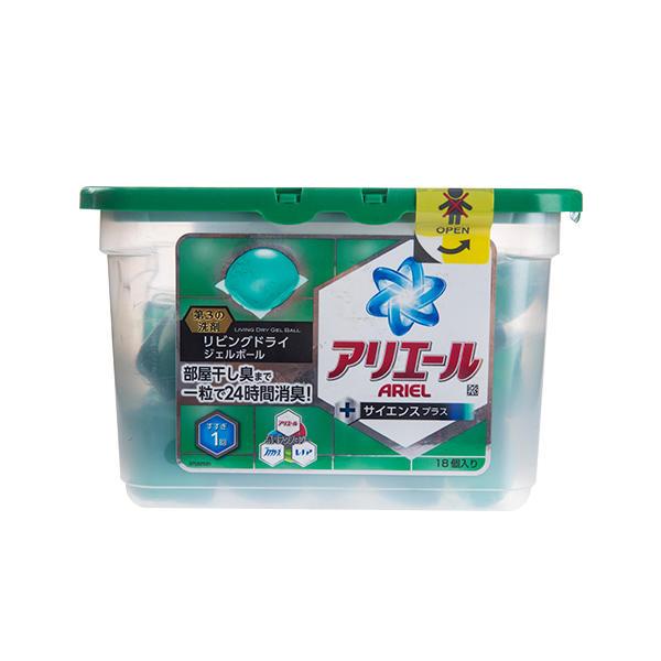 日本P&G宝洁双倍除菌绿色自然清香洗衣球18颗