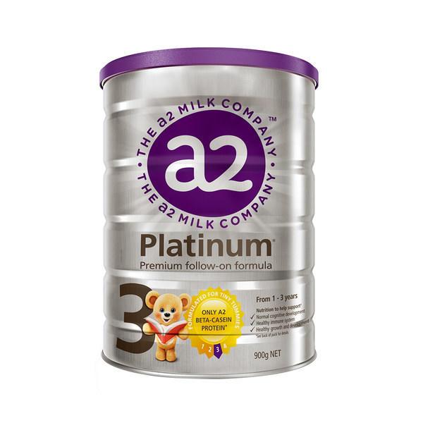 【2罐装】新版澳洲原装a2白金婴儿奶粉3段 1周岁以上宝宝奶粉900g*2罐