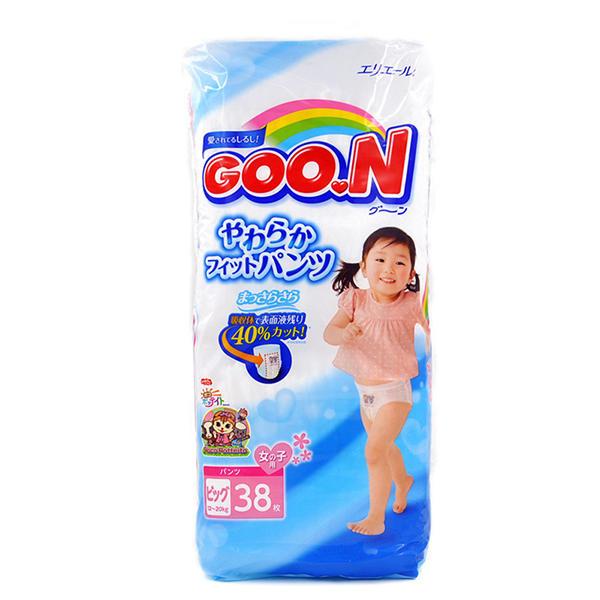 日本GOO.N大王拉拉裤 XL38(女宝)