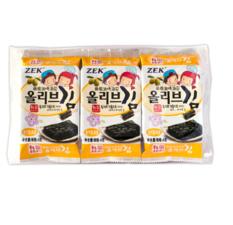 韩国ZEK低盐 橄榄油 葡萄籽 加钙海苔 12g 葡萄籽油