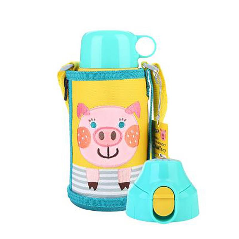 虎牌MBR-B06G儿童婴儿专用冷保温杯600ml 小粉猪