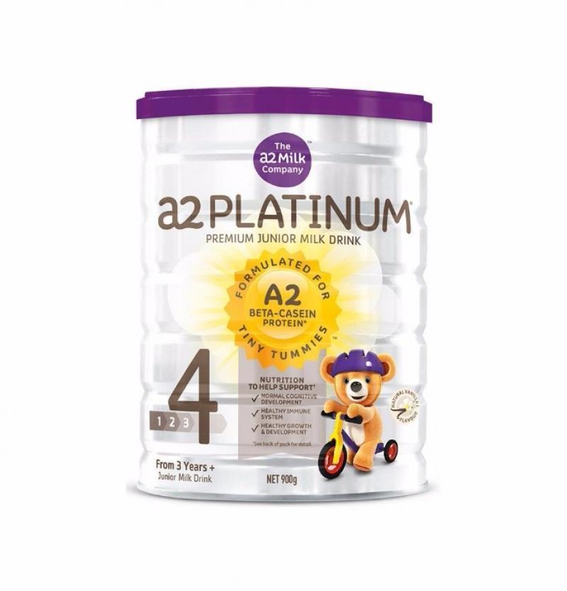 【2罐装】澳洲原装a2白金婴儿奶粉4段 3周岁以上宝宝奶粉900g*2罐(新老版本随机发货)